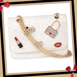 New! Girls Rhinestud Glitter Bag